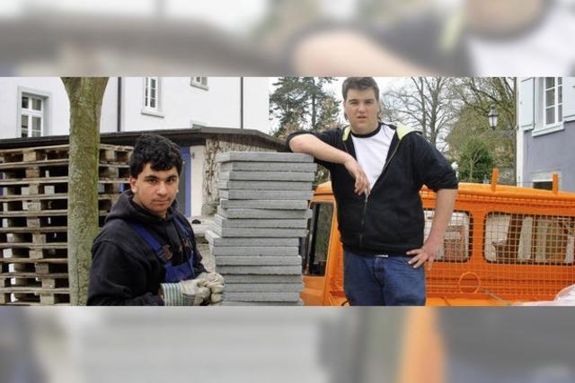 Paulo Eliseo und Francesco Giuliano packten kräftig an