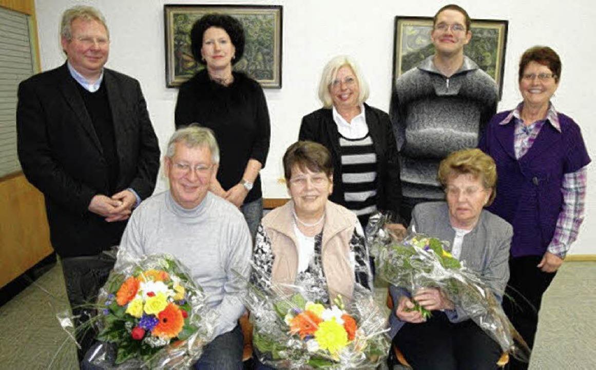 Der neue Vorstand des Pfarrgemeinderat...lotte Heß und Eva Maurer (von links).   | Foto: Hansjörg Bader