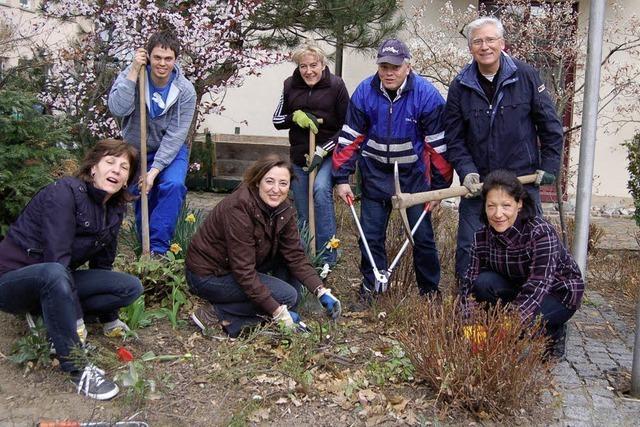 Ortschaftsräte als Gärtner