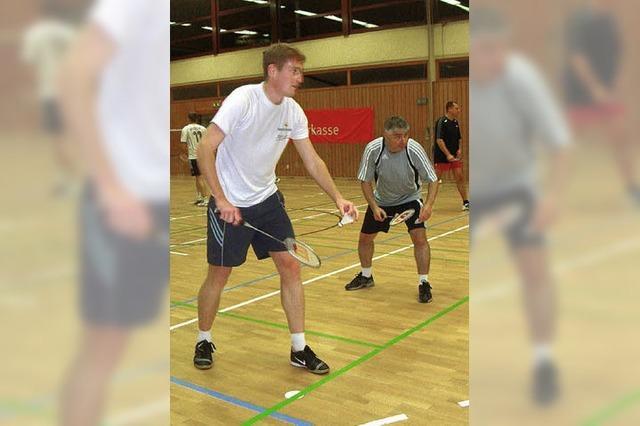 Badmintonspieler in der Seebodenhalle