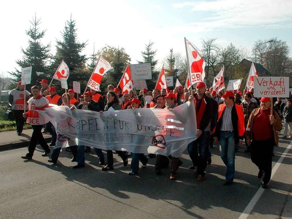 Déjà-vu-Erlebnis? Demos  gegen den Ste...ewerkschaft  auch diesmal nicht aus.    | Foto: FRED THELEN
