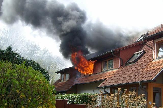 Zimmerbrand im Stadtteil Hochdorf