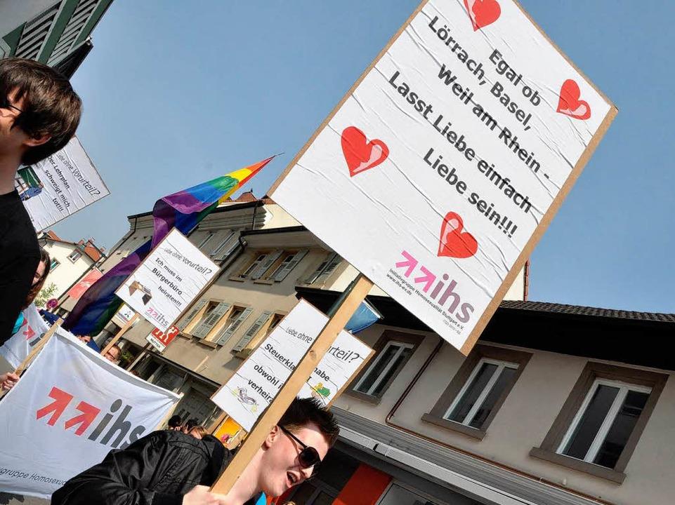 Parolen bei der Parade  | Foto: Barbara Ruda