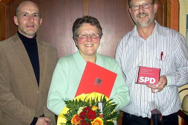 SPD-Ortsverein Hecklingen ehrt treue Mitglieder