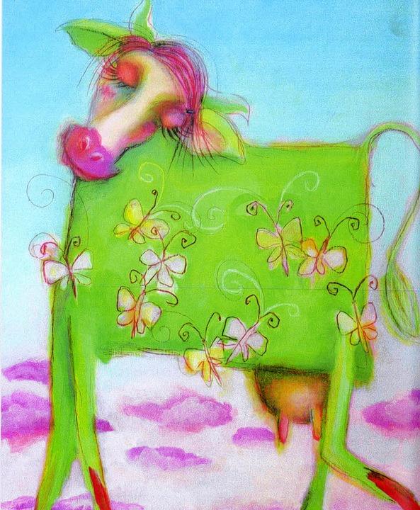 Eine bunte Kuh   | Foto: Verlag