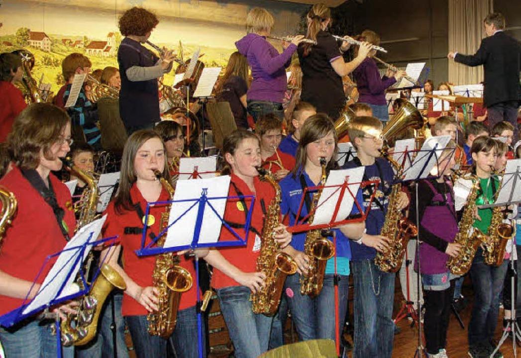 Begeisterte Musiker: Konzert des Oberb...smusikverbandes im Freiämter Kurhaus.   | Foto: Pia Grättinger