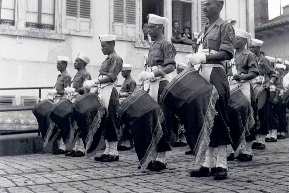 Frankreichs Besatzungstruppen in Lörrach (Foto: Stadtarchiv Lörrach)