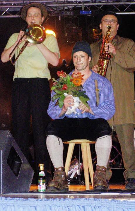 "Martin Wangler, alias Fidelius Waldvog...Luddi"" begeisterten die Zuhörer.    Foto: Liane Schilling"