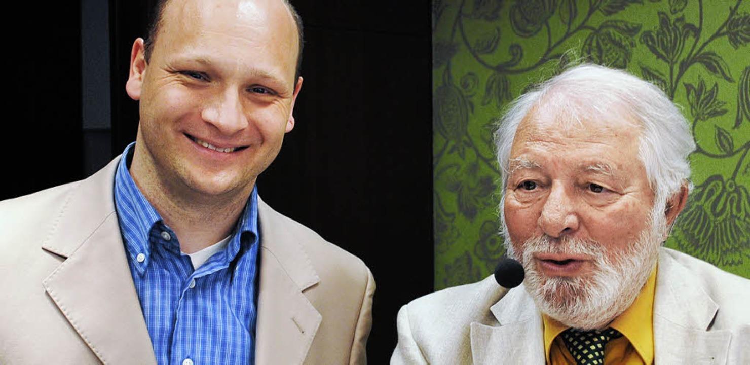 Links Dominic Müller, Chef des Durbacher Ritter, rechts Wolfram Siebeck.  | Foto: rob