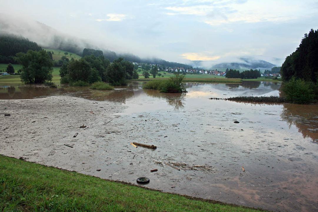 Das Rückhaltebecken in Seelbach bietet...z vor einem 50-jährlichen Hochwasser.     Foto: fotos: theo weber