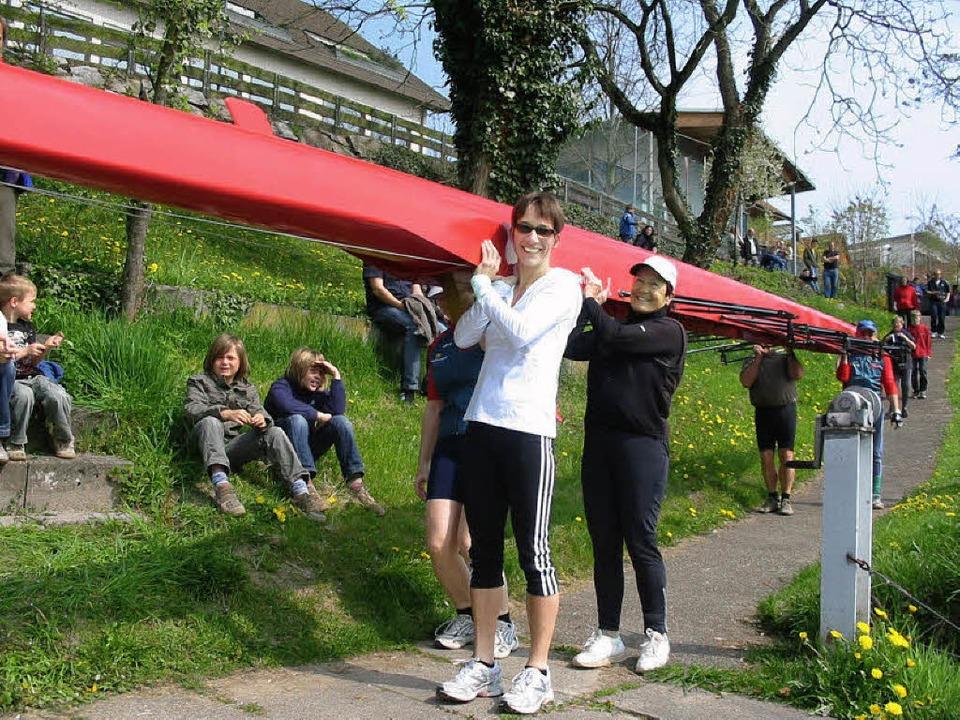 Anrudern beim Ruderclub Rheinfelden    Foto: Jutta Rogge