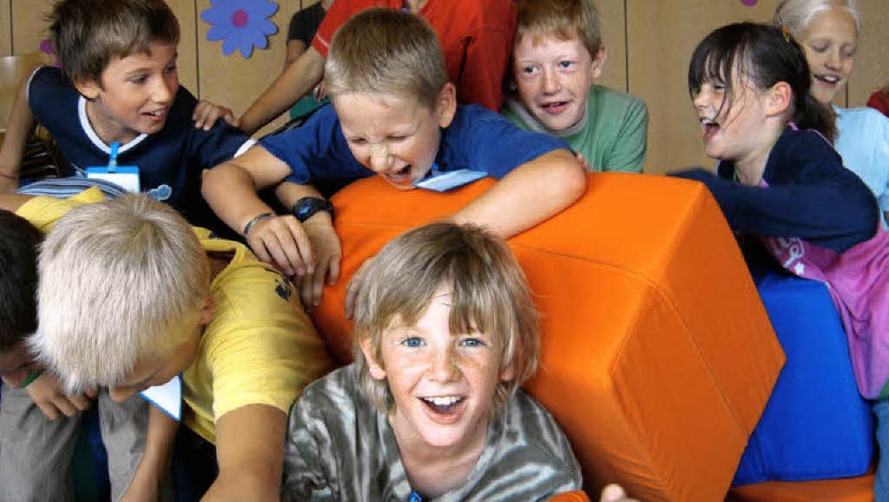 Rumtoben  macht Kindern nicht nur Spaß...dert auch  ihre geistige Entwicklung.     Foto: christine aniol