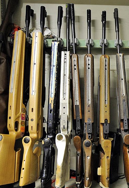 Gewehre im Waffenschrenk  | Foto: Ingo Schneider