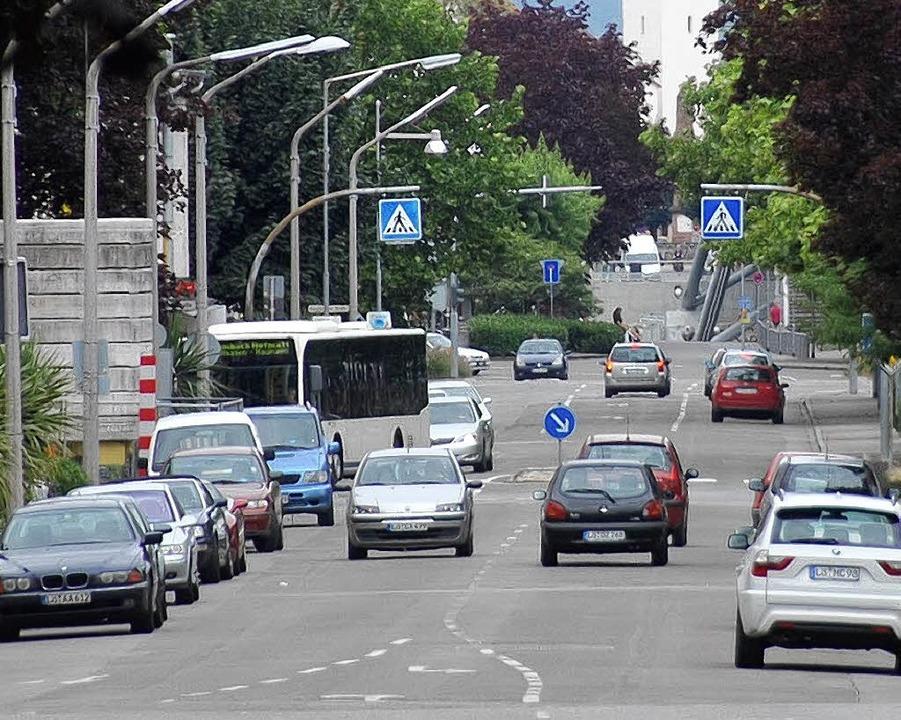 Die  Hauptstraße in Friedlingen  | Foto: Hannes Lauber