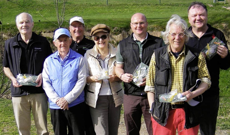 Beim Golf-Eröffnungsturnier in Schönau...t, Klaus Sidler und Dieter Schneider.     Foto: Privat