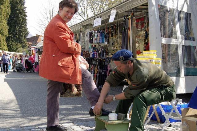 Besucheransturm beim Frühjahrsmarkt
