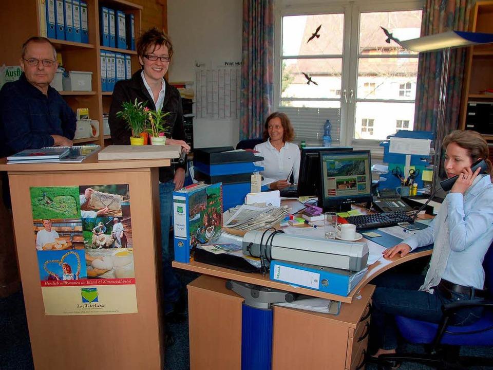 Zufrieden mit der Jahresbilanz: das Team der ZTL-Geschäftsstelle in Bleibach.    Foto: Bernd Fackler