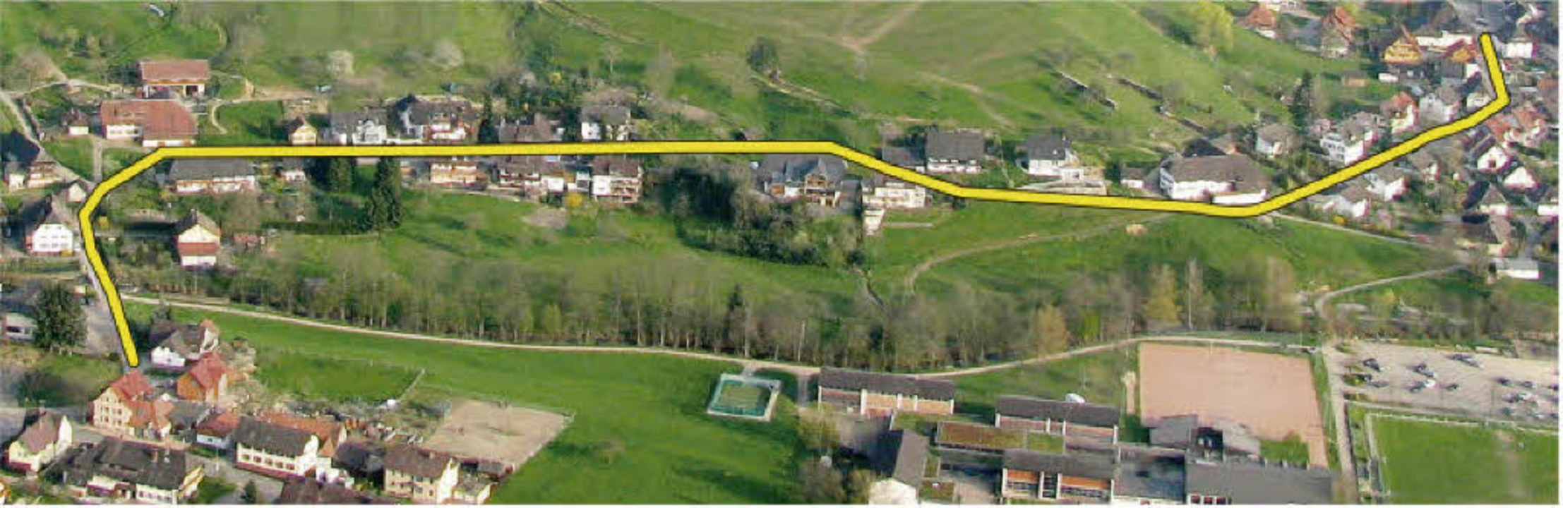 Rund 700 Meter lang ist in Münstertal ...beiträgen herangezogen werden sollen.   | Foto: Manfred Lange