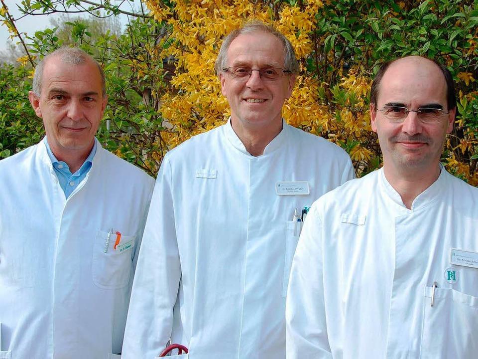 Die  Organisatoren des 1. Breisgauer P...er und Dr. Martin Schuster (von links)    Foto: Kai Kricheldorff