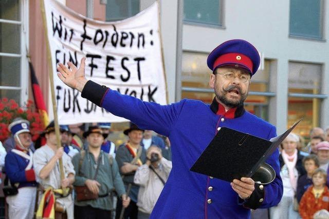 Anlauf für ein richtiges Volksfest