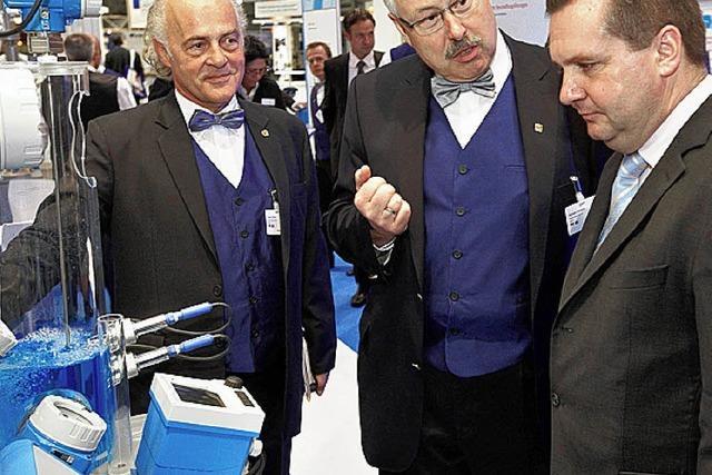 Mappus besuchte E+H bei der Hannover-Messe