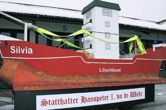 Ein Löschboot umgebaut