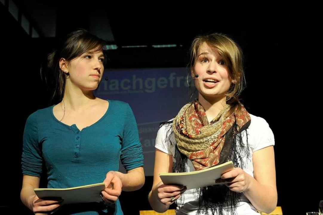 Jana Hörsch und Antonia Guba-Menzel  | Foto: Ingo Schneider