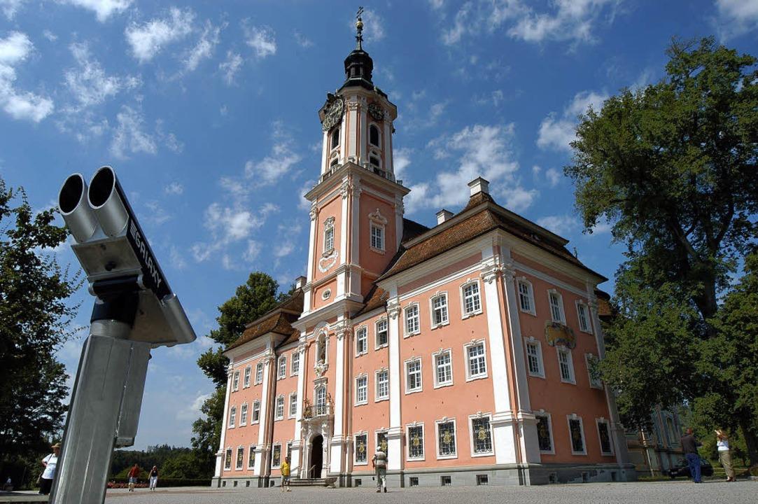 Tatort und Touristenmagnet: Die Wallfahrtskirche  Birnau am Bodensee  | Foto: THOMAS KUNZ