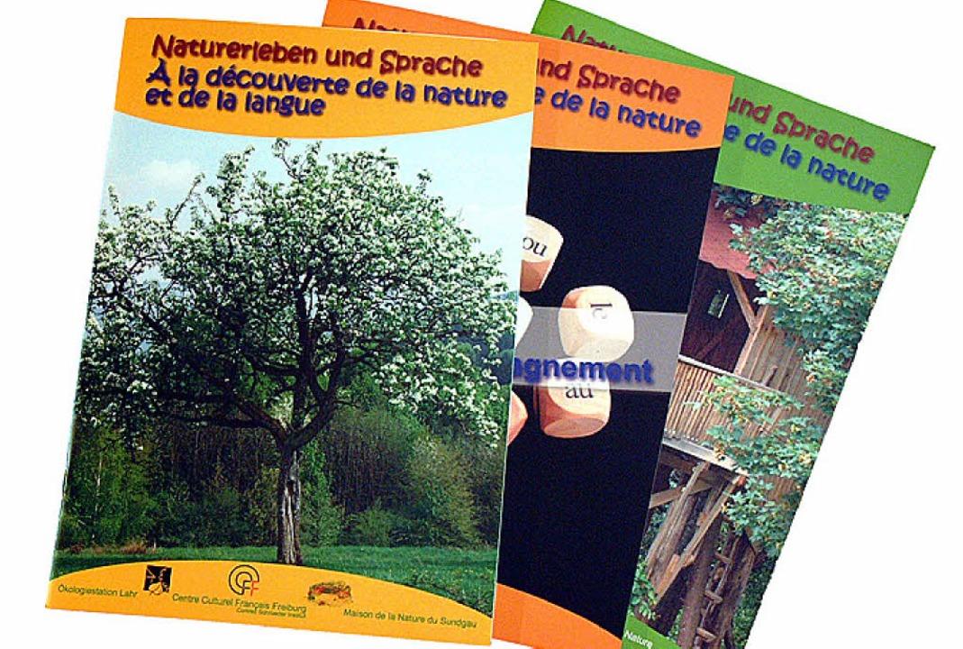 Neu bei der Ökologiestation sind  deutsch-französische  Arbeitshefte.   | Foto: BZ