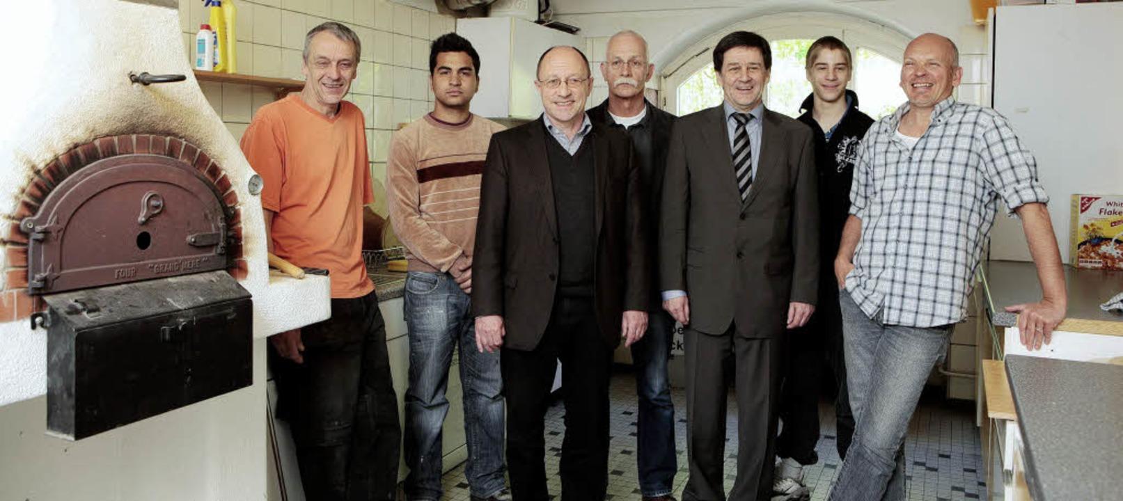 Das Garagenprojekt freut sich über fin...r, Timo Köckritz  und Andreas Marrek.   | Foto: christoph breithaupt