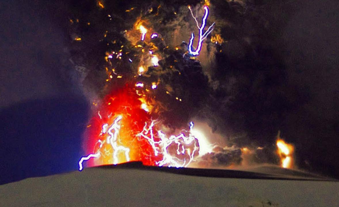 Vulkanasche aus Island sorgte auch  in Südbaden  für Gesprächsstoff.   | Foto: dpa