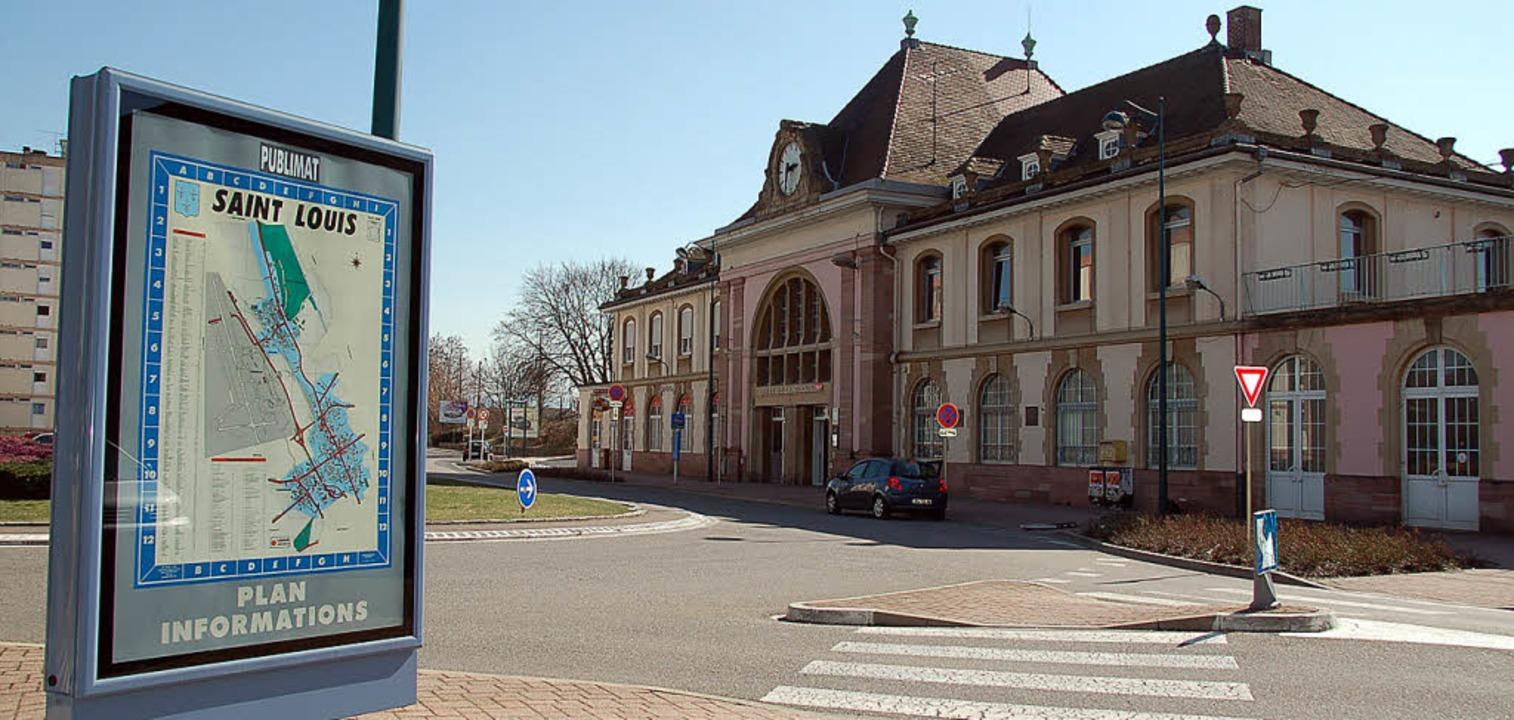 Nahtlos sollen am Bahnhof Saint-Louis ...h- und Fernverkehr ineinander greifen.    Foto: Annette Mahro