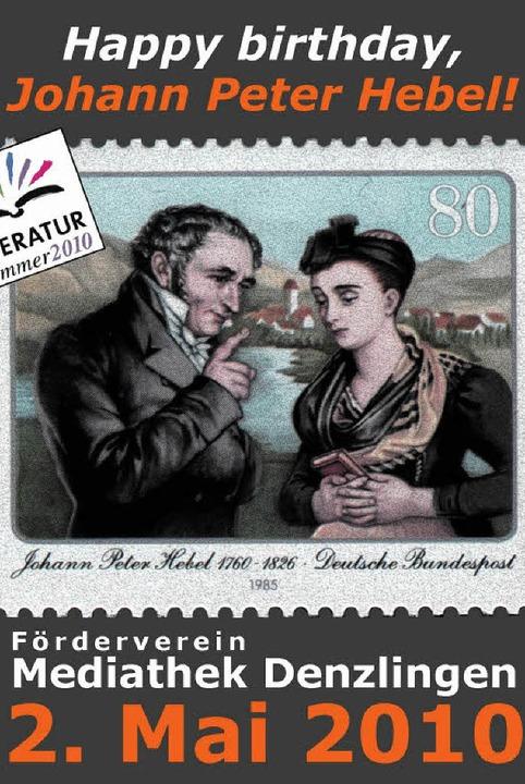 1985 hatte die Post dem Markgräfler Dichter eine Briefmarke gewidmet.  | Foto: Antonia Felber