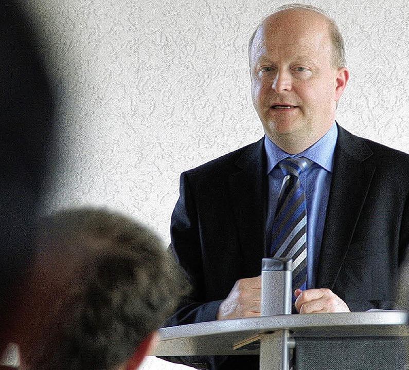 Sieht die EU auf einem guten Weg:  Der...geordnete Michael Theurer in Maulburg.  | Foto: Hege