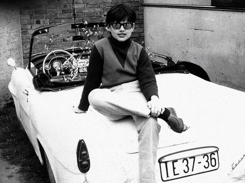 Auf dem Sprung ins wilde Road Movie ih...na Hagen auf Mutters Skoda-Sport, 1966  | Foto: privat