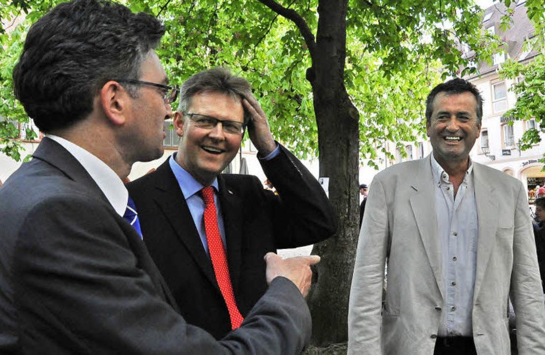 Erleichterung nach dem Wahlmarathon: d...r Oberbürgermeister Dieter Salomon.       Foto: Michael Bamberger