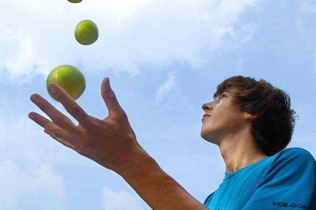 Balancieren, jonglieren und zaubern