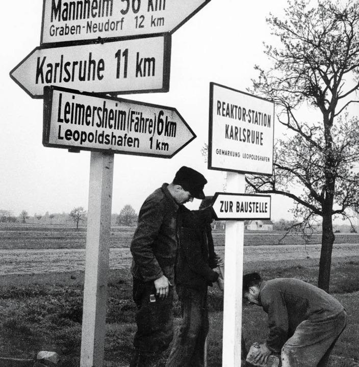 Nach der Entscheidung: In Karlsruhe wi... Kernforschungszentrum ausgeschildert.  | Foto: Karlsruher Institut für Technologie (KIT)
