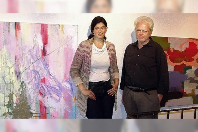 Spannender Dialog der Bilder und der beiden Künstler