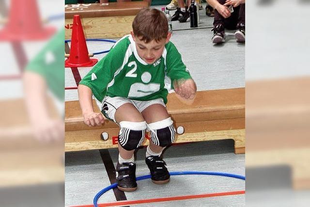 50 Kinder ließen sich bei der Talentiade der Handballer prüfen