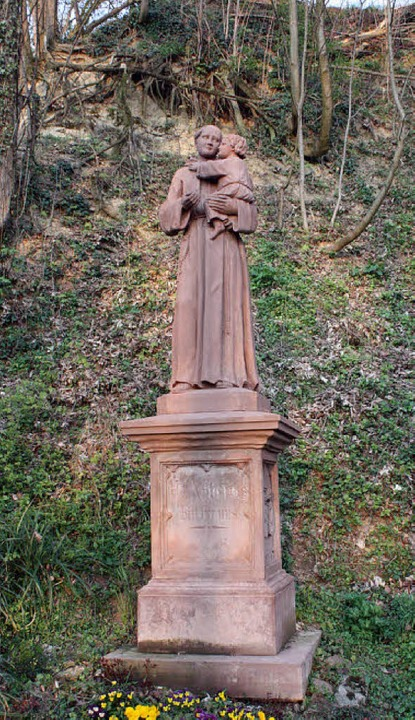 Restauriert wurde auch die  Antonius-Statue.   | Foto: barbara schmidt