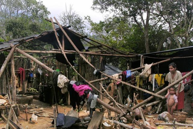 Holzhütten stürzten ein