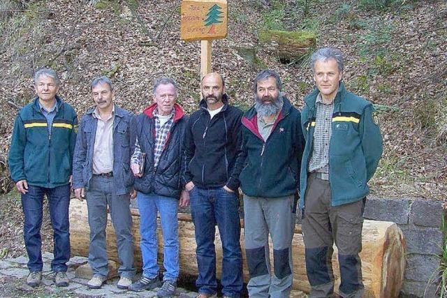 Einen Brunnen für den verdienten Forstmann