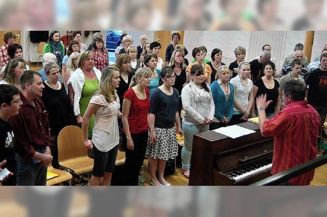 Singen kann schweißtreibend sein