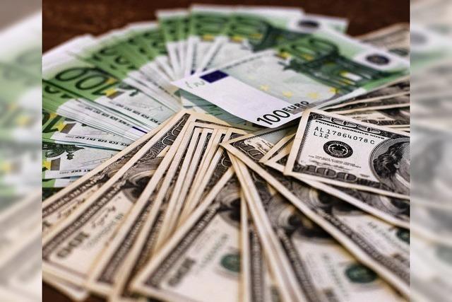 Der Euro ist auf Talfahrt