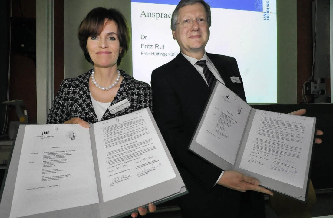 Nicole Leibinger-Kammmüller, Geschäfts...kt für die Fritz-Hüttinger-Professur.   | Foto: Michael Bamberger