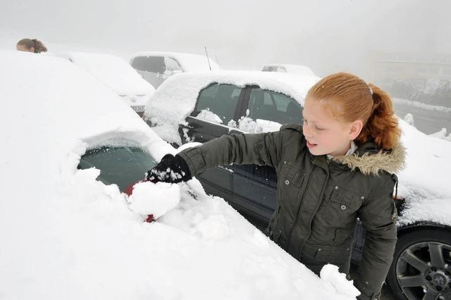Geschlossene Schneedecke auf dem Feldberg