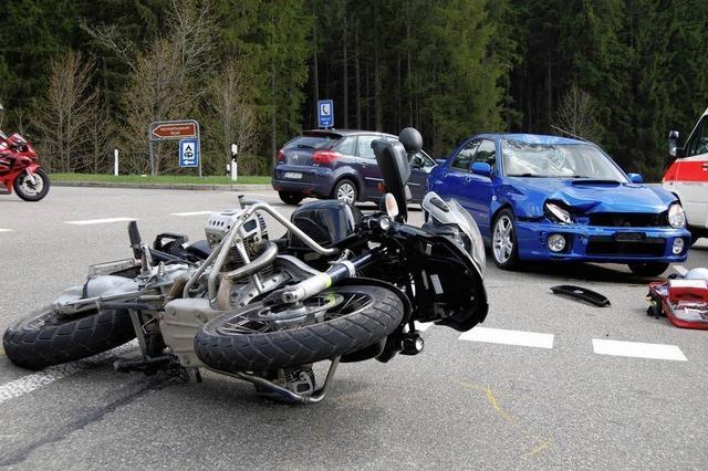 Weniger Motorradunfälle
