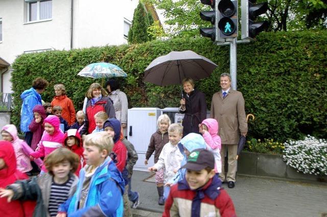 Fußgängerampel soll den Schulweg sicherer machen