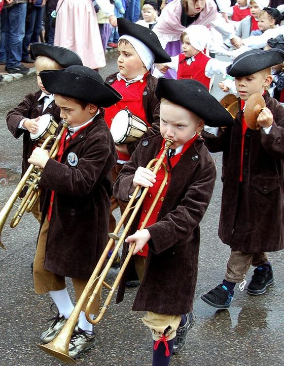 Früh übt sich die nächste Generation der Hebelmusik  | Foto: Hermann Jacob